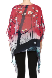 Cocoon House Cherry Blossom Silk Poncho - Back cropped