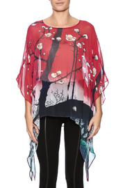 Cocoon House Cherry Blossom Silk Poncho - Side cropped