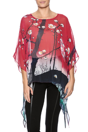 Cocoon House Cherry Blossom Silk Poncho - Product Mini Image
