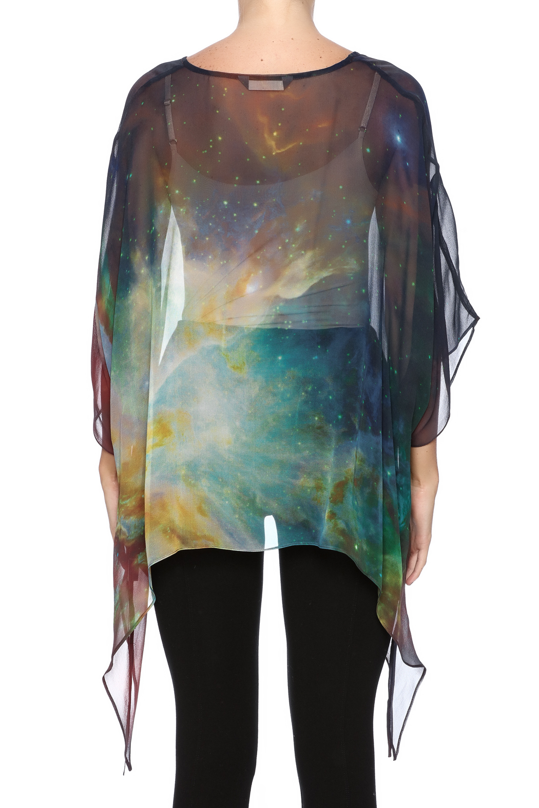 adc4e7276b19ac Cocoon House Nebula Silk Poncho from Omaha by Souq Ltq
