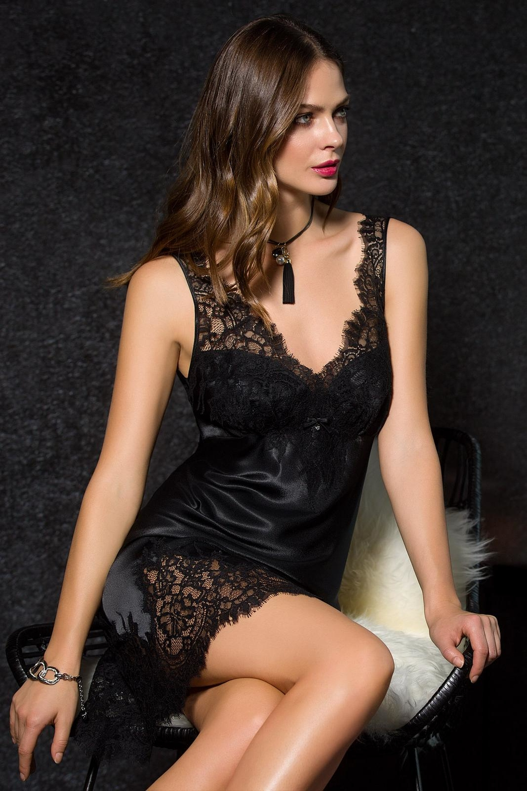 e8f0d51019 Coemi Satin Lace Chemise from Canada by J adore Intimates — Shoptiques