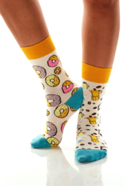 Giftcraft Inc.  Coffee and Donut sox - Front full body