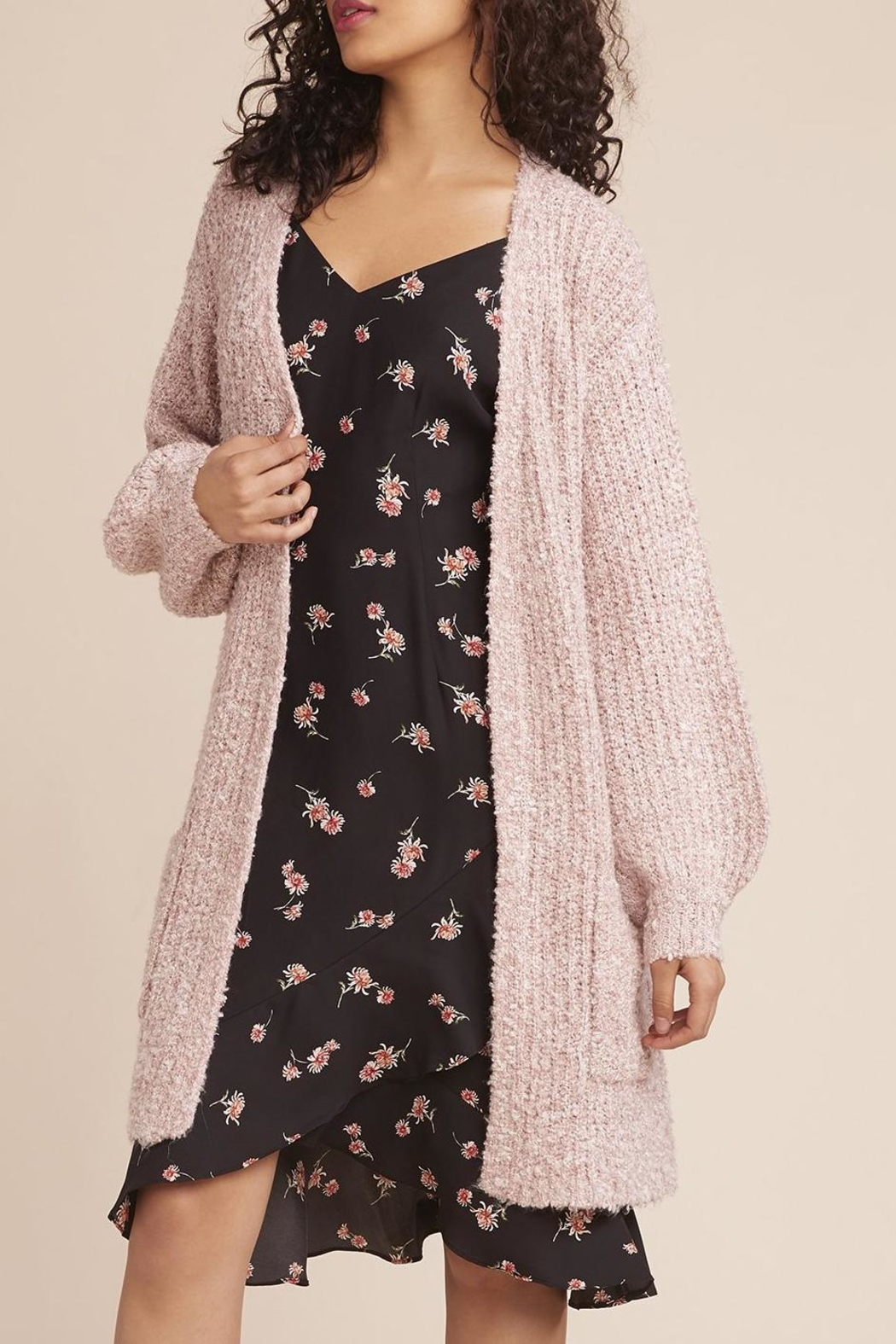 BB Dakota Coffee Date Cardigan - Side Cropped Image