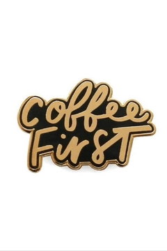 Old English Co. Coffee First Enamel Pin - Alternate List Image