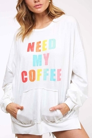 Fantastic Fawn Coffee Graphic Top - Product Mini Image