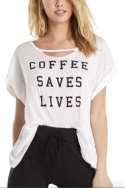 Wildfox Coffee Saves Lives Rivo Tee - Front full body