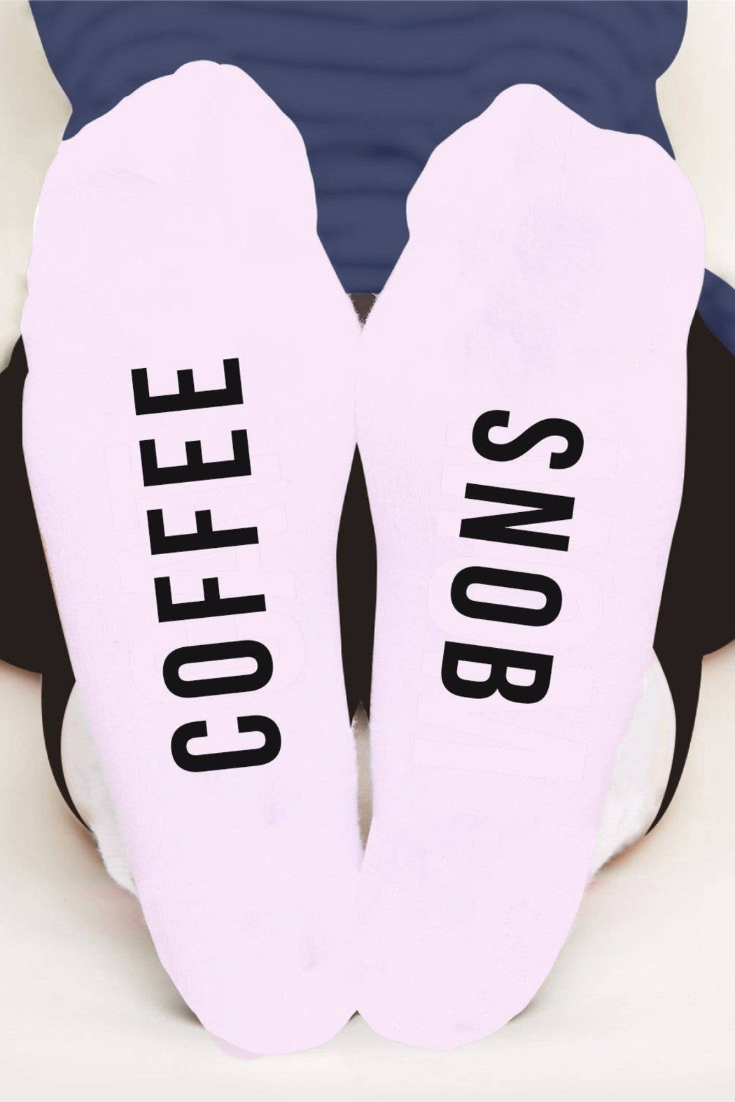 Toss Designs Coffee Snob Socks - Front Cropped Image