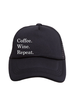 Tiny Trucker  Coffee. Wine. Repeat. Trucker Hat - Product List Image