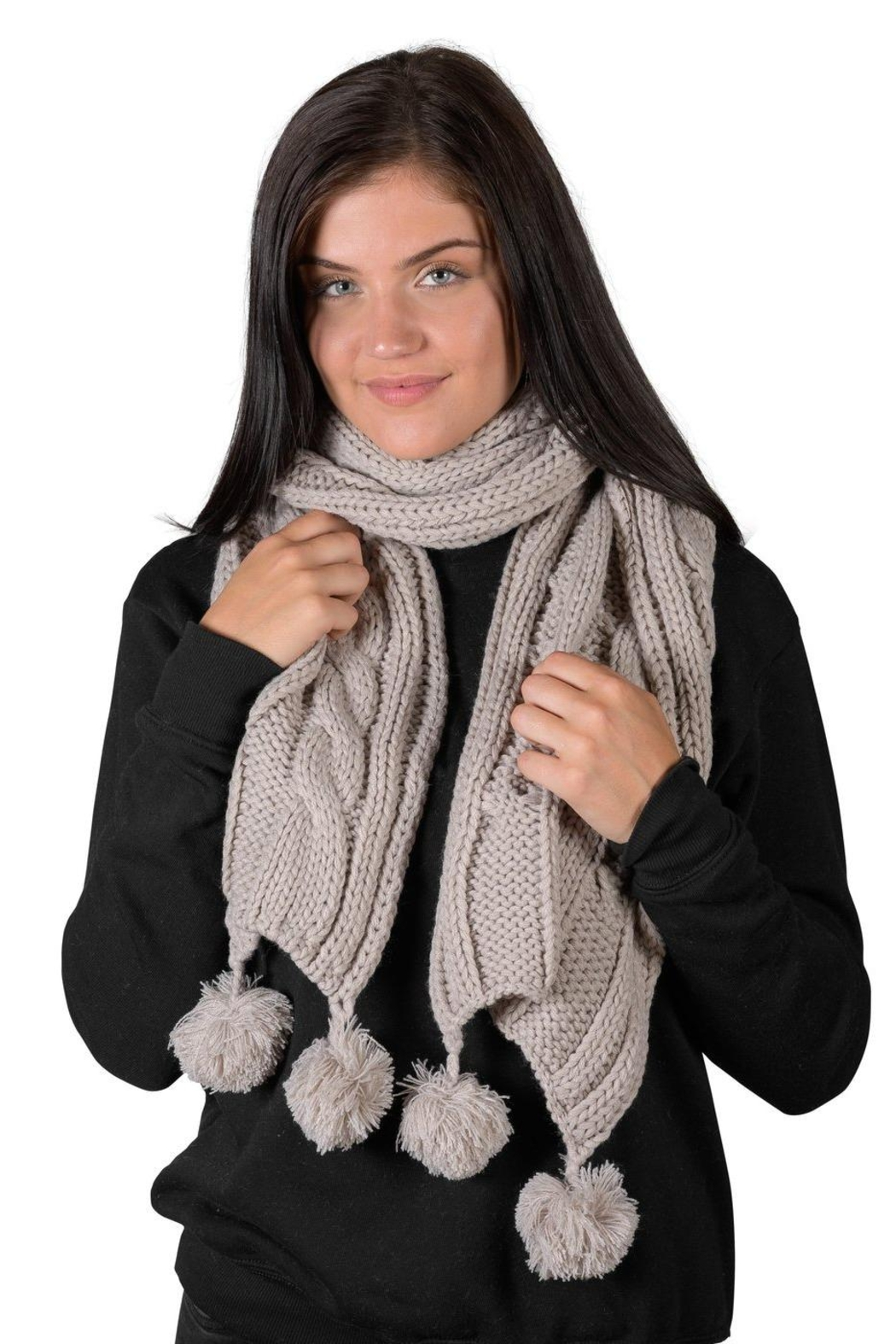 Coffeeshop Cable Knit Scarf - Main Image