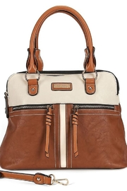 Coco + Carmen Cognac Zipper Satchel - Product Mini Image