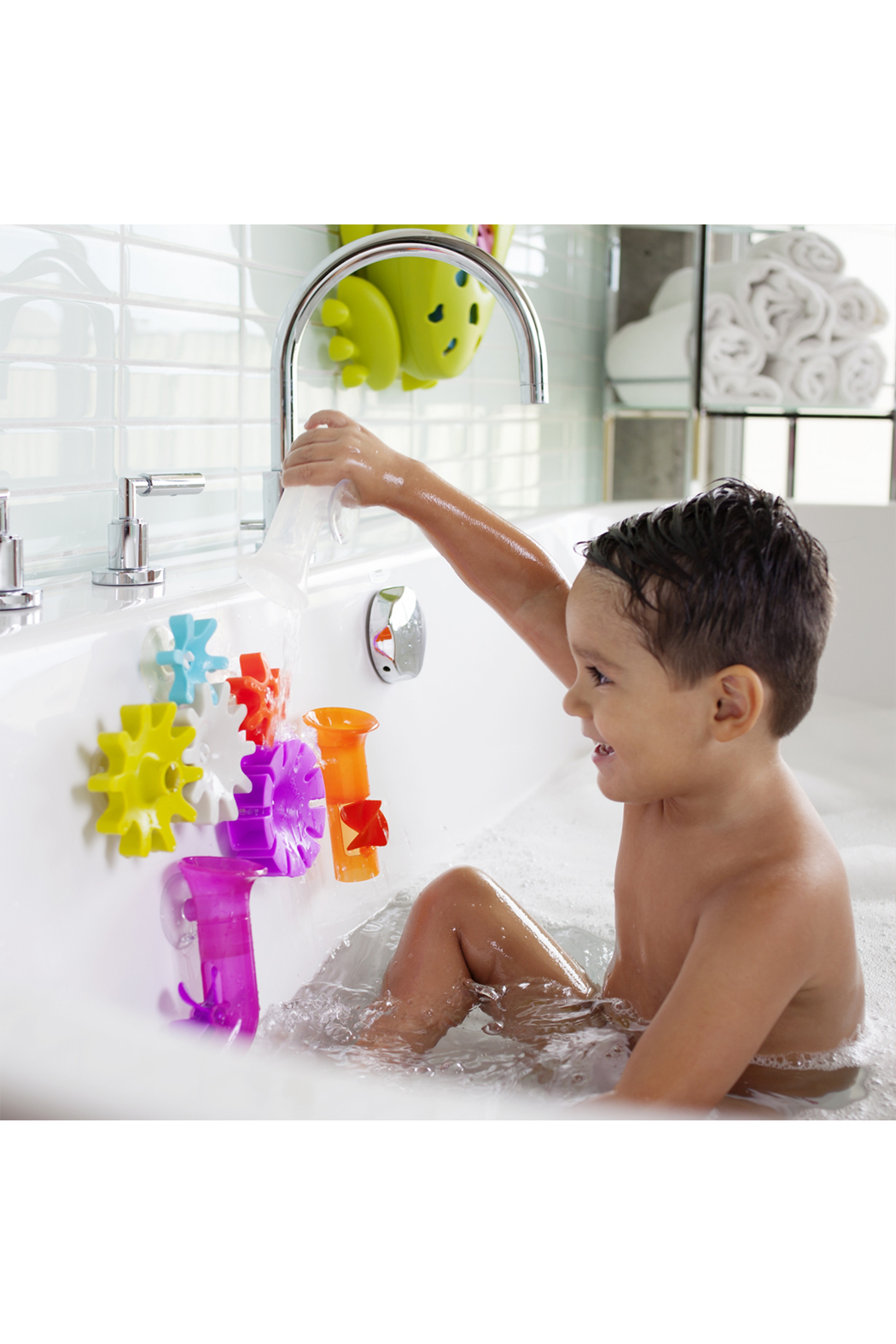 boon by Tomy Cogs Building Bath Toy Set - Side Cropped Image
