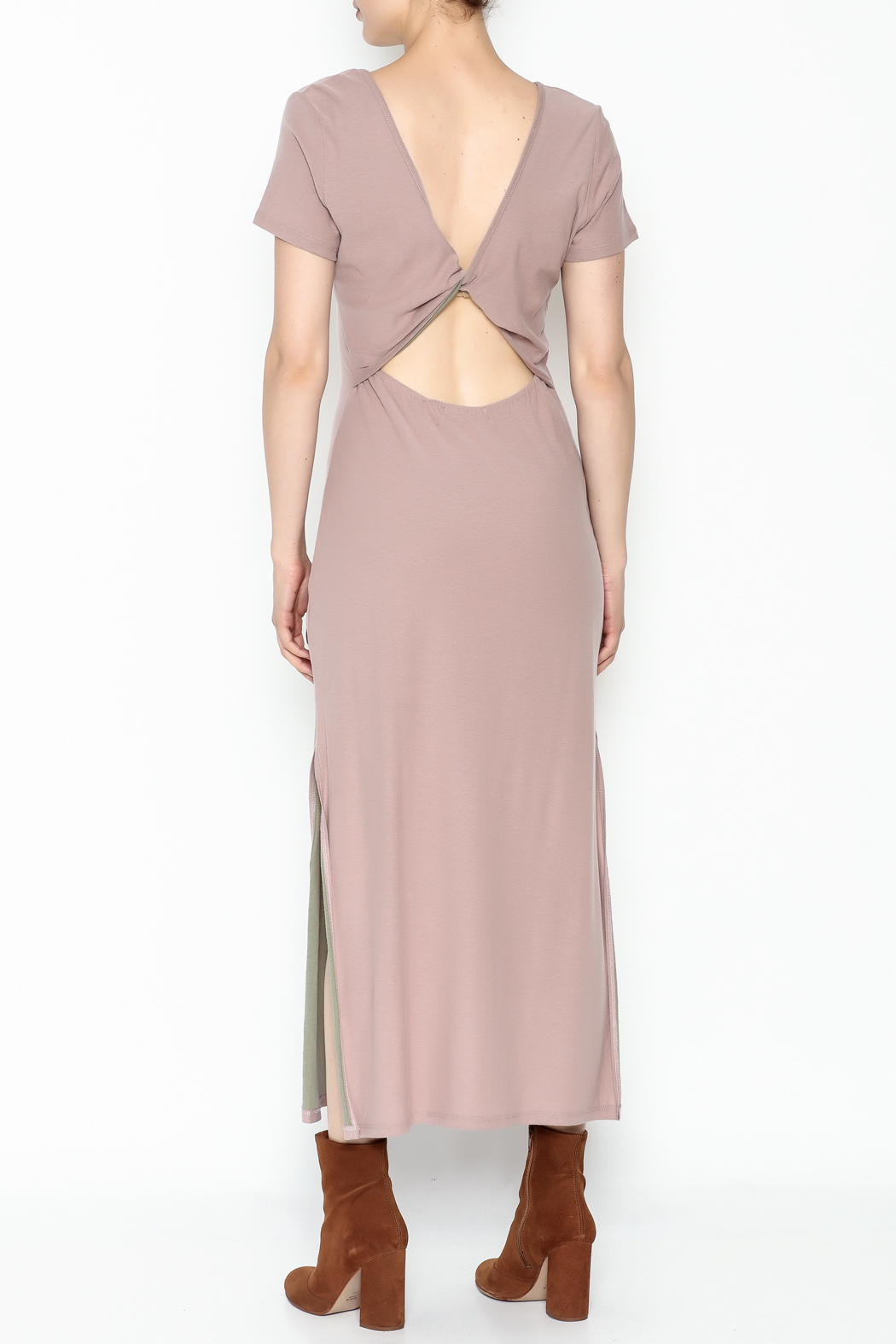 Coin 1804 Maxi Open Back Dress - Back Cropped Image