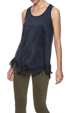 Coin 1804 Faux Suede Fringe Tank - Product List Image