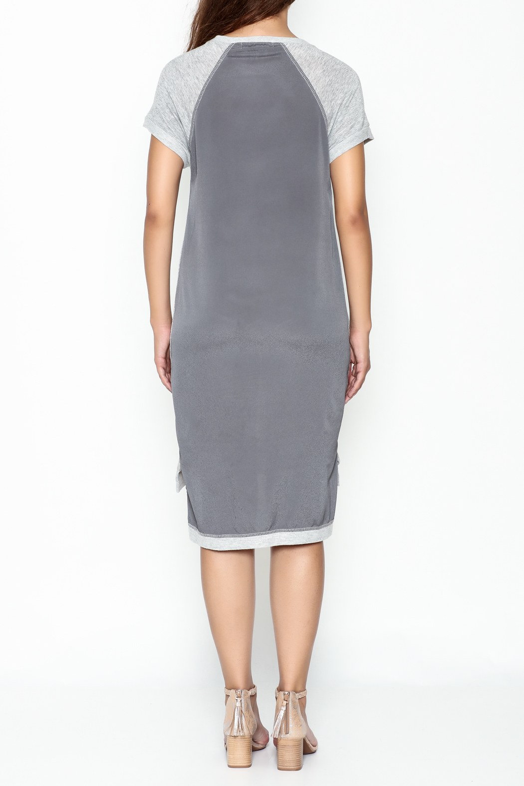 Coin 1804 T Shirt Dress - Back Cropped Image