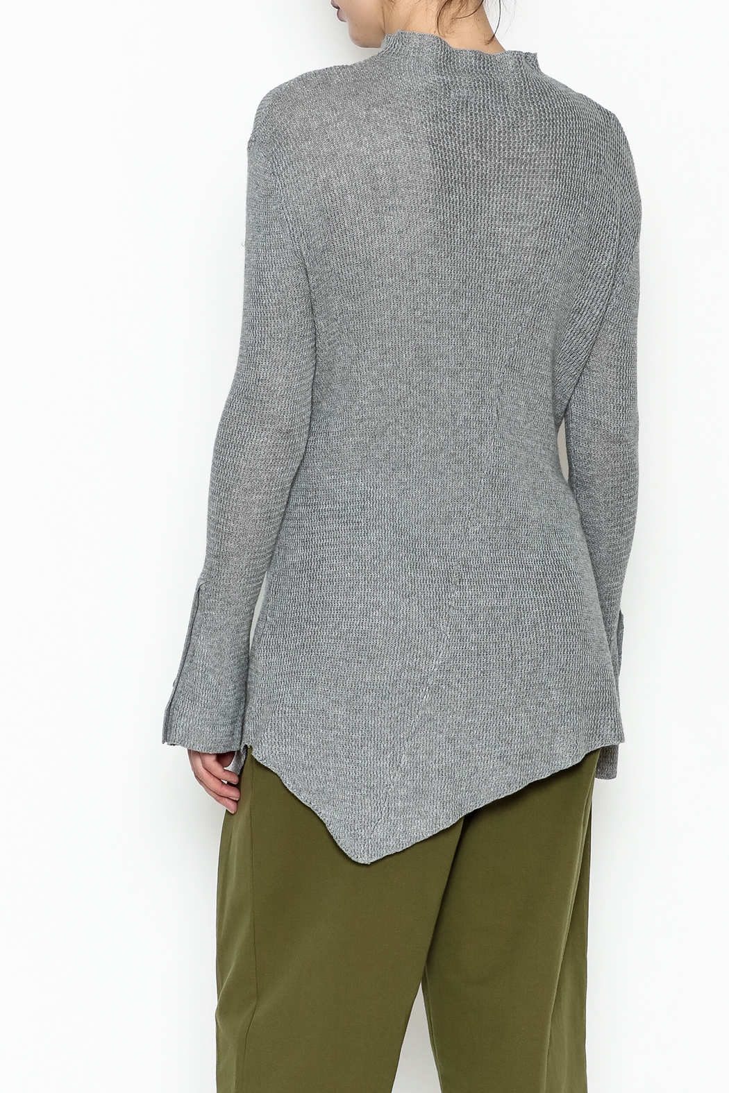 COIN Asymmetric Waffle Top - Back Cropped Image