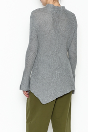 COIN Asymmetric Waffle Top - Back cropped