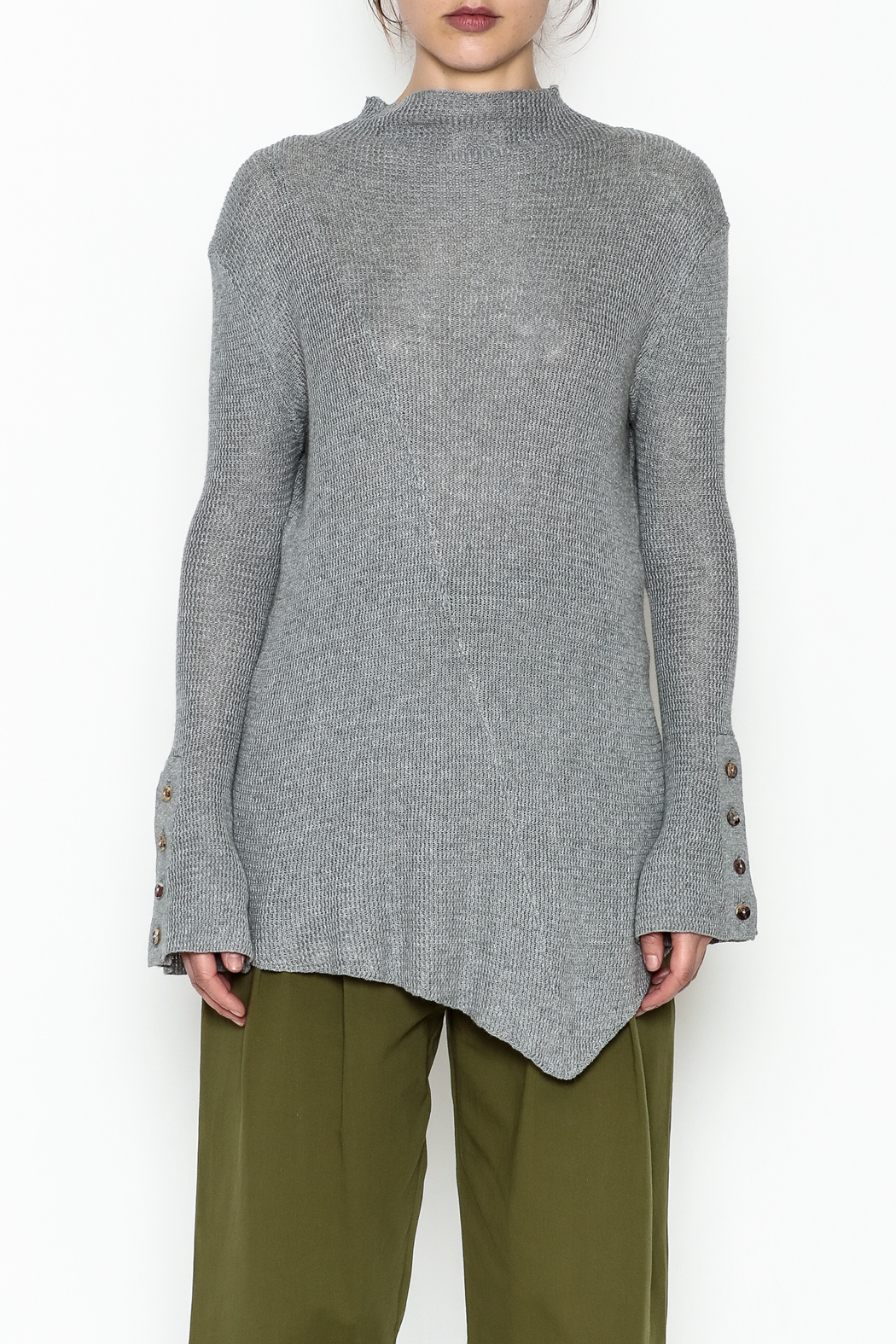 COIN Asymmetric Waffle Top - Front Full Image