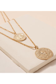 avenue zoe  Coin Charms Layered Necklace - Product Mini Image