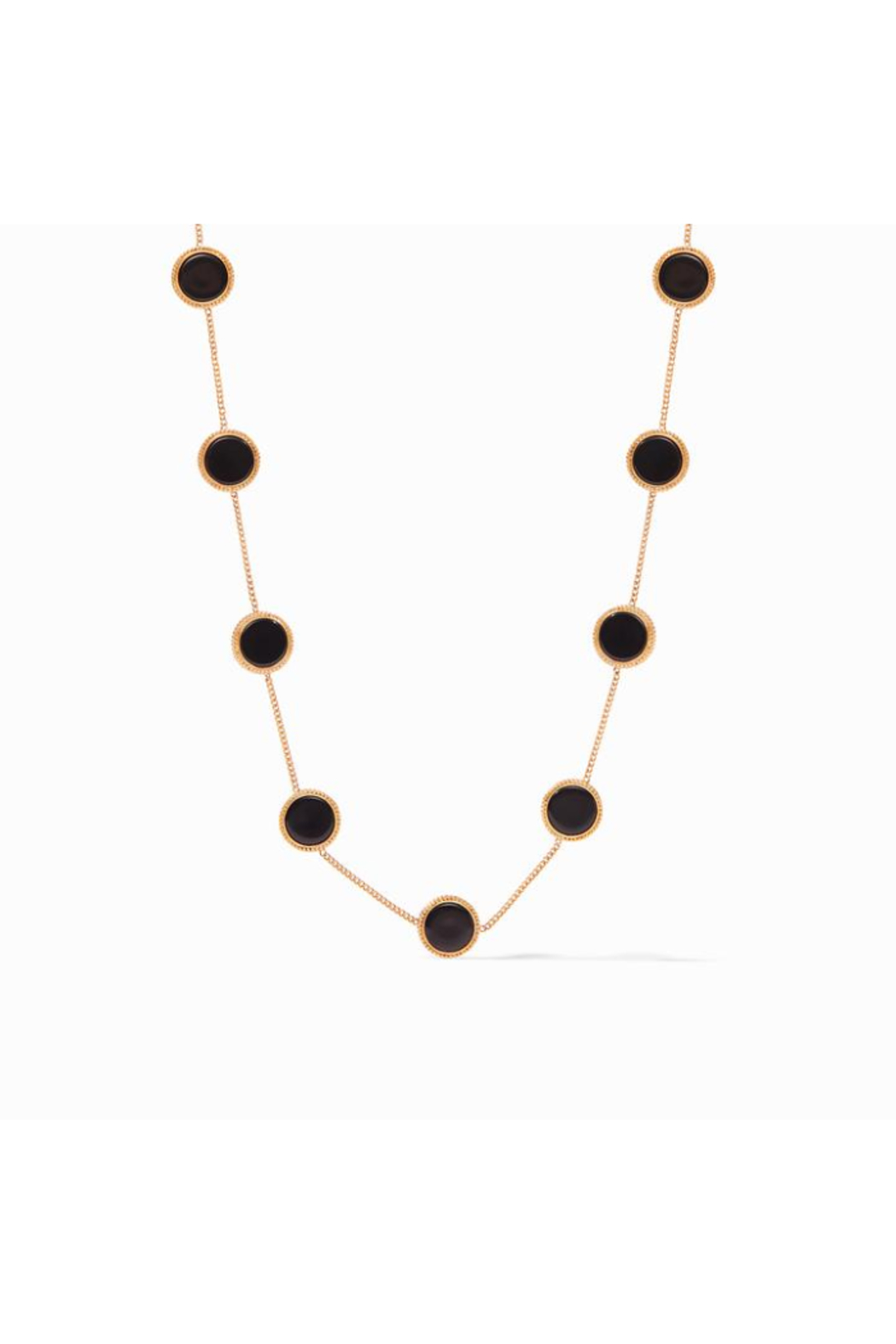 Julie Vos COIN DEMI STATION NECKLACE-BLACK ONYX - Front Cropped Image