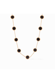 Julie Vos COIN DEMI STATION NECKLACE-BLACK ONYX - Front cropped