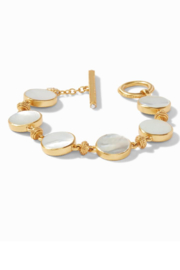 Julie Vos COIN DOUBLE SIDED BRACELET - GOLD MOTHER OF PEARL - Product Mini Image