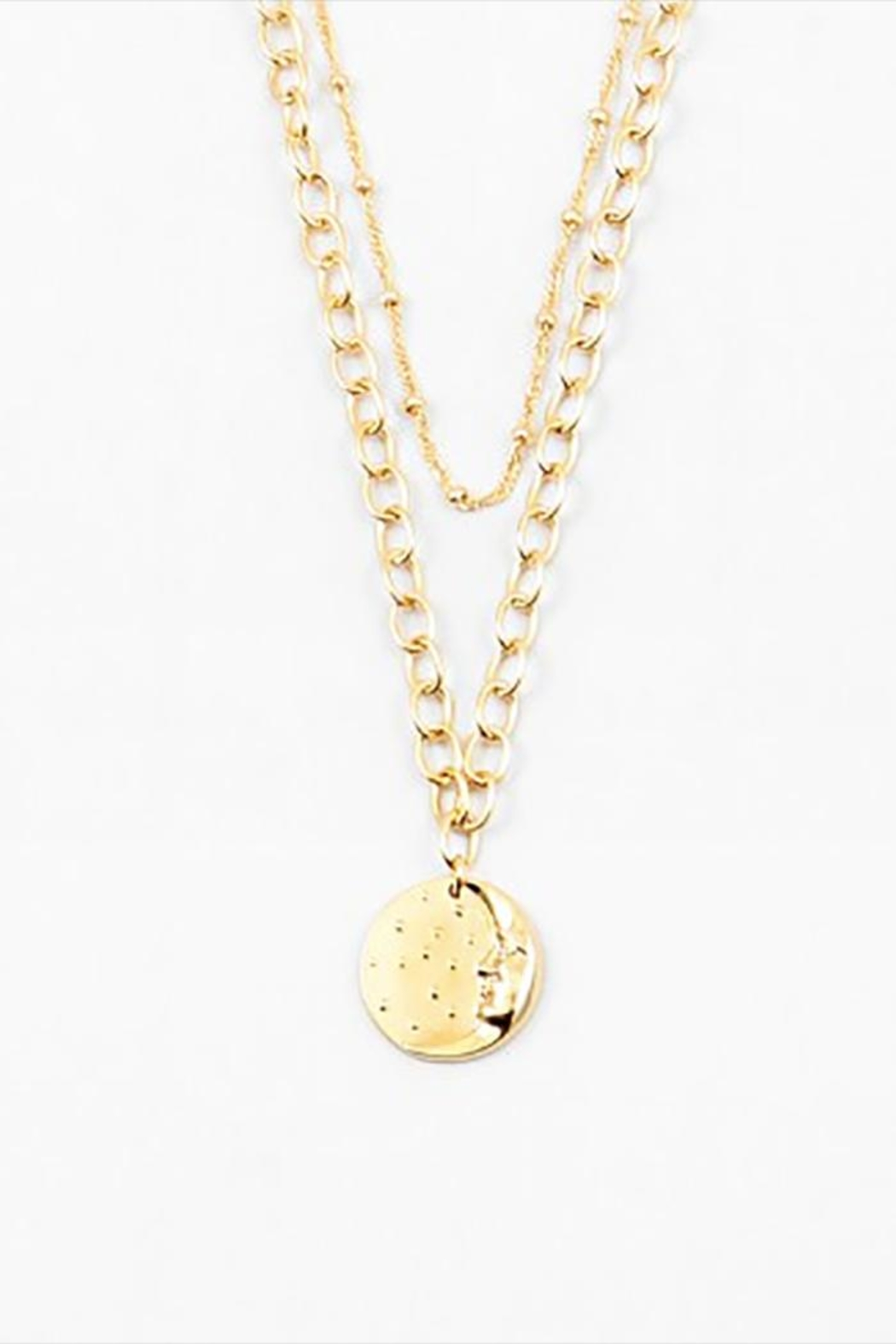 Lets Accessorize Coin Layered Necklace - Main Image