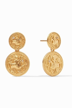 Shoptiques Product: Coin Midi Earring Gold Cz Accents