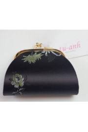 tu-anh Coin Purse Black Floral - Product Mini Image