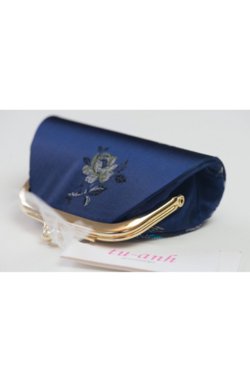 tu-anh Coin Purse Blue Floral - Front Full Image