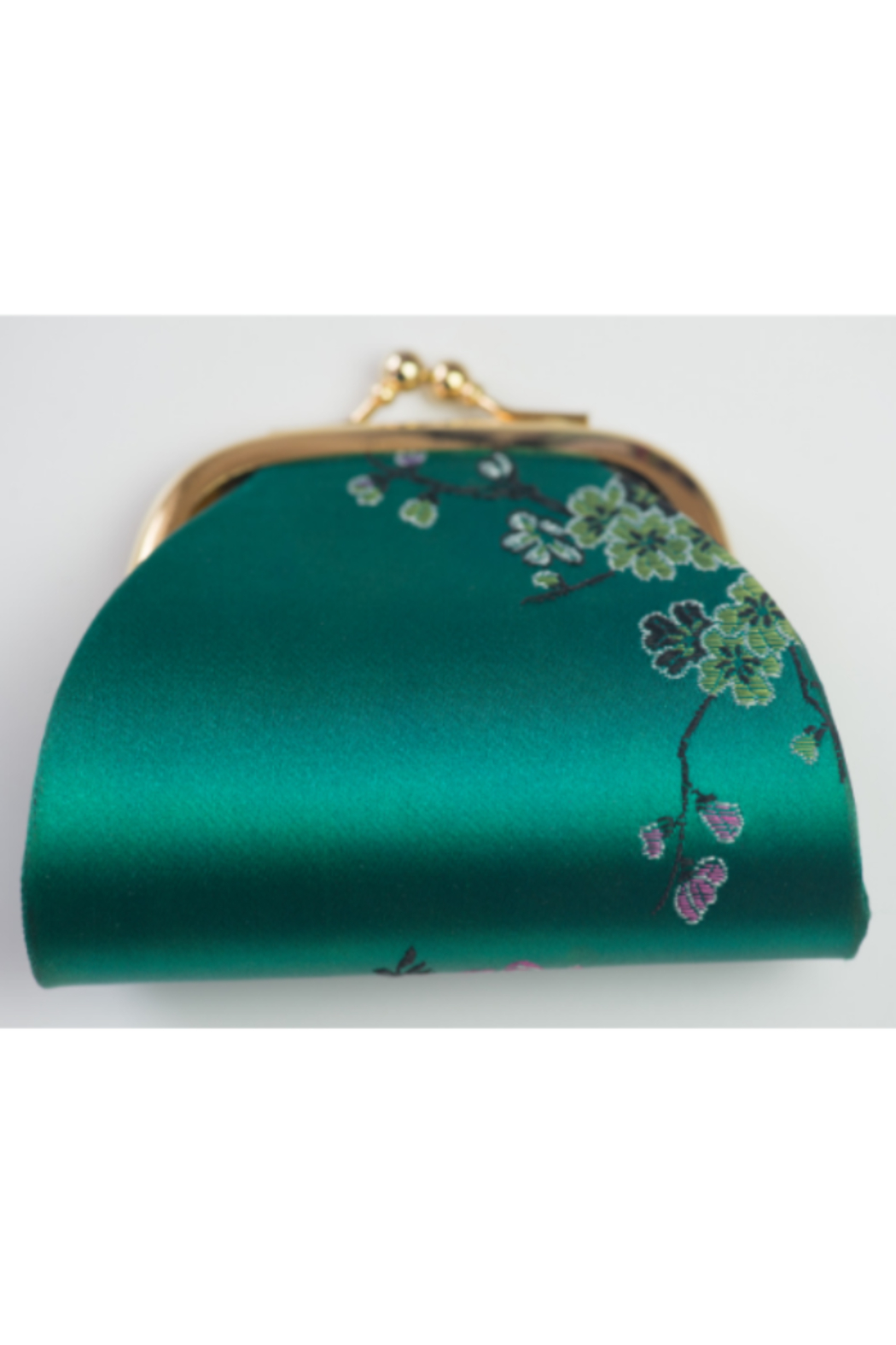 tu-anh Coin Purse Green Floral - Main Image