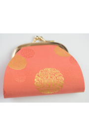 tu-anh Coin Purse Jacquard Orange - Front cropped