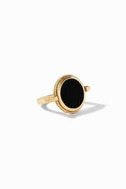Julie Vos COIN REVOLVING RING - GOLD BLACK ONYX (SIZE 7) - Product Mini Image