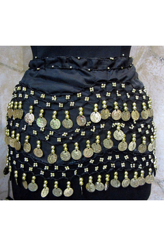 KIMBALS Coin Sash - Belly Dancing 3-Line Hip Scarf - Alternate List Image