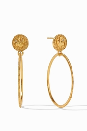 Julie Vos COIN STATEMENT EARRING GOLD ZIRCON - Product Mini Image