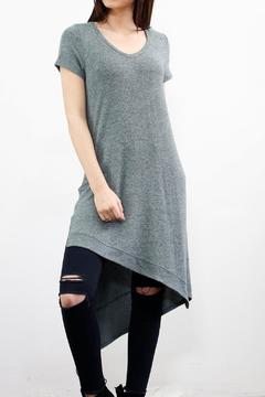 Shoptiques Product: Assymetrical Heathered Dress/tunic
