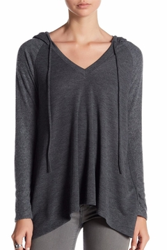 Coin 1804 Charcoal V-Neck Hoodie - Alternate List Image