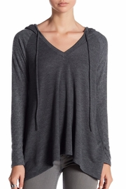 Coin 1804 Charcoal V-Neck Hoodie - Product Mini Image