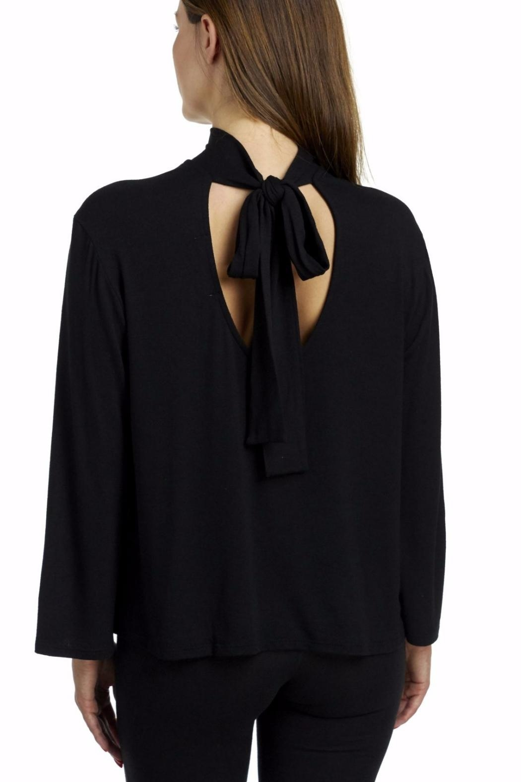 Coin 1804 Choker Tie Blouse - Front Full Image