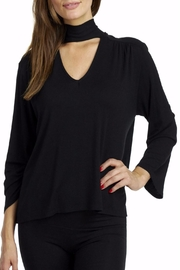Coin 1804 Choker Tie Blouse - Front cropped