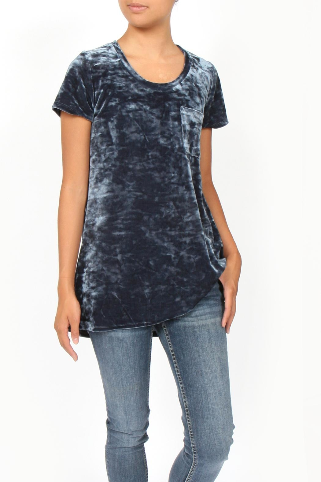 Coin 1804 Crushed Velvet Tee - Main Image