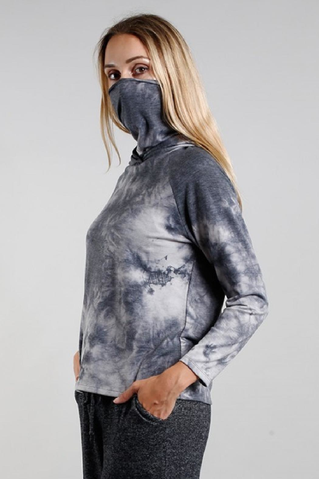 Coin 1804 Gaiter Hoodie - Front Full Image