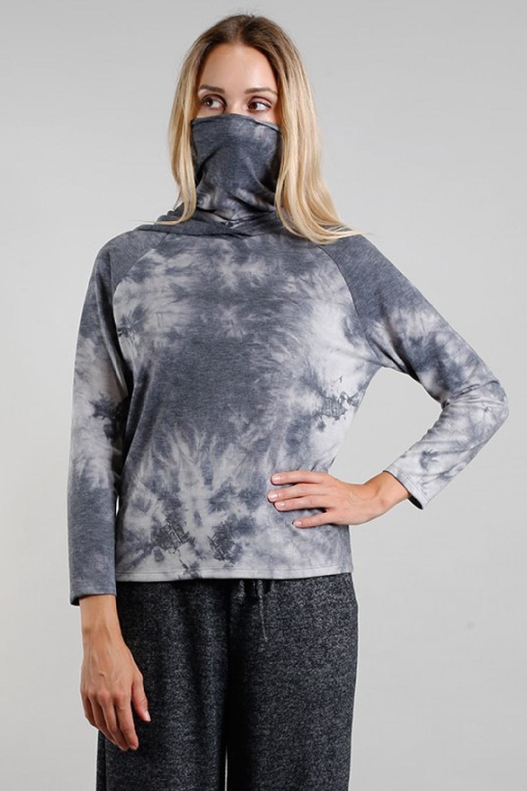 Coin 1804 Gaiter Hoodie - Back Cropped Image