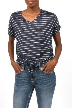 Coin 1804 Striped Tie-Front Top - Product List Image