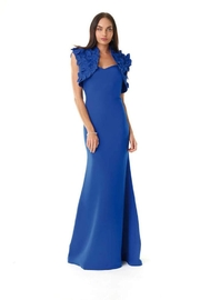 Alberto Makali Colbalt-Blue Classic Gown - Front cropped