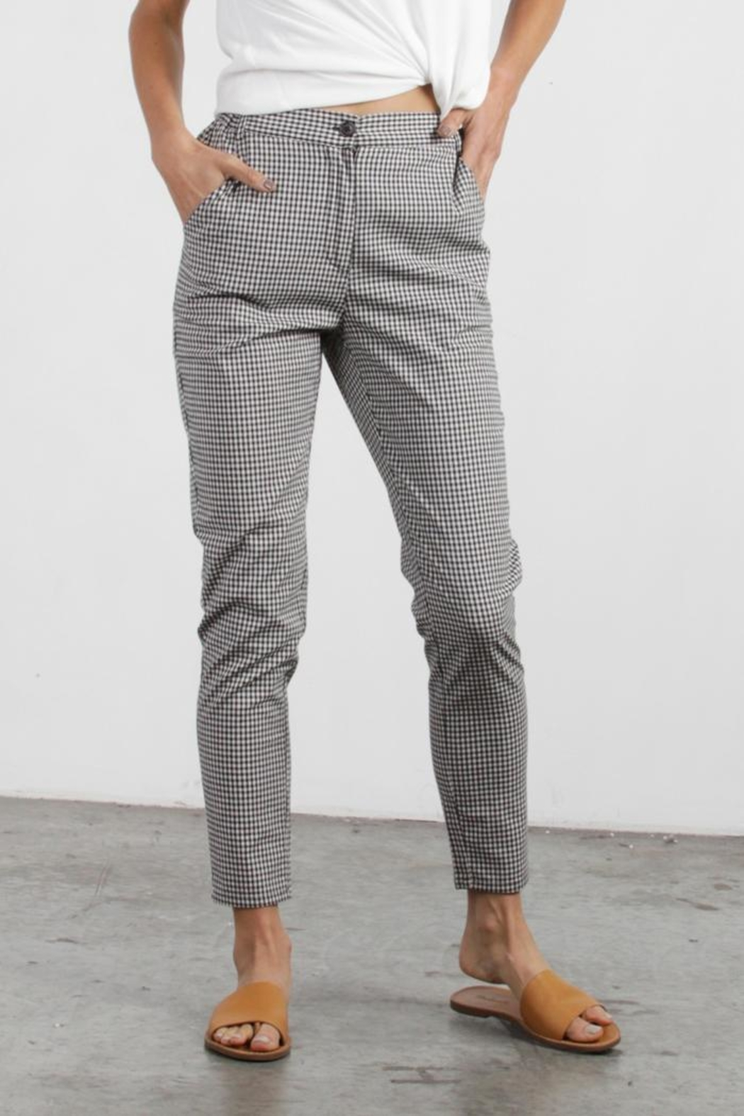 Mod Ref Colby Gingham Pants - Back Cropped Image