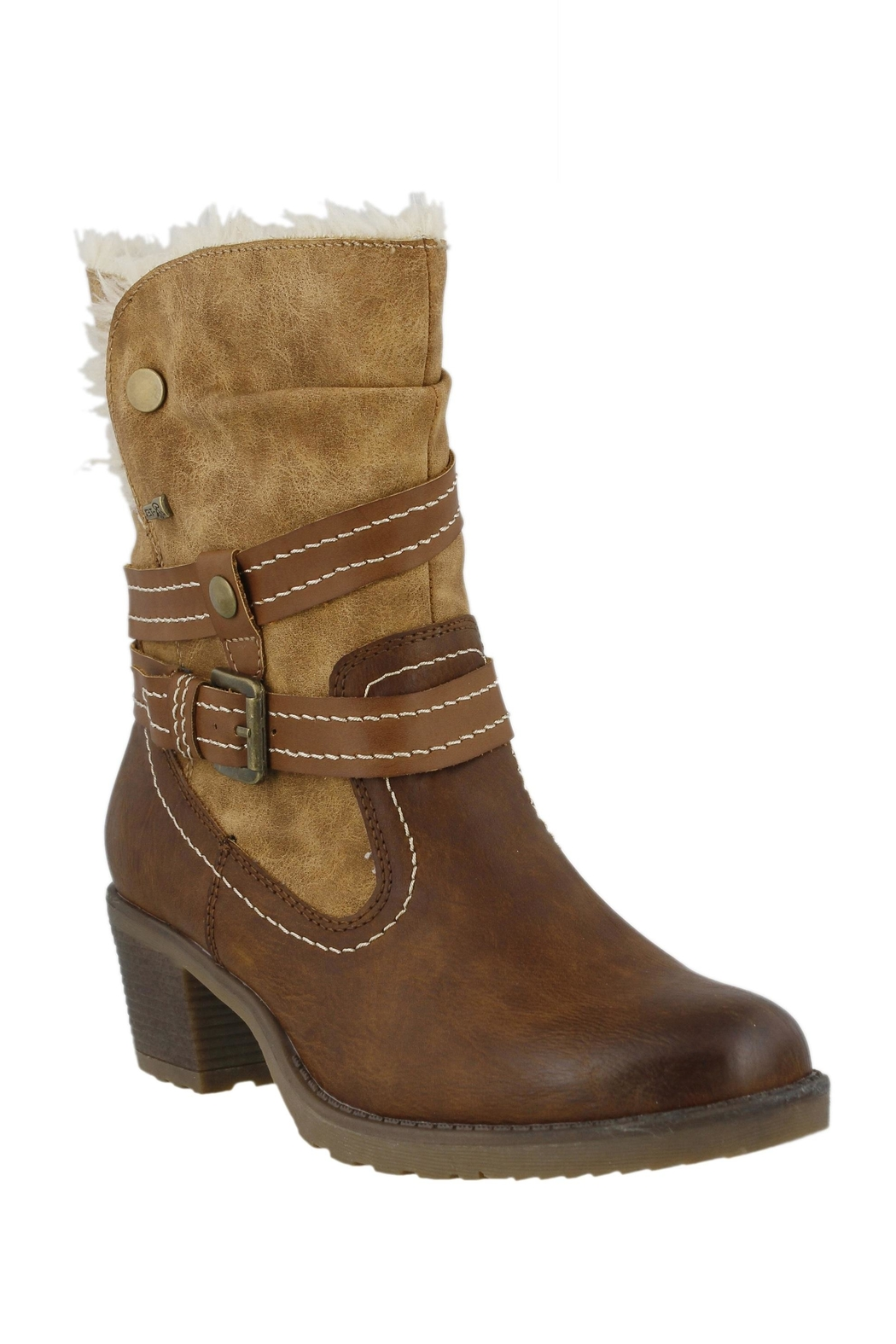 Spring Footwear Cold Cowgirl Bootie - Front Cropped Image