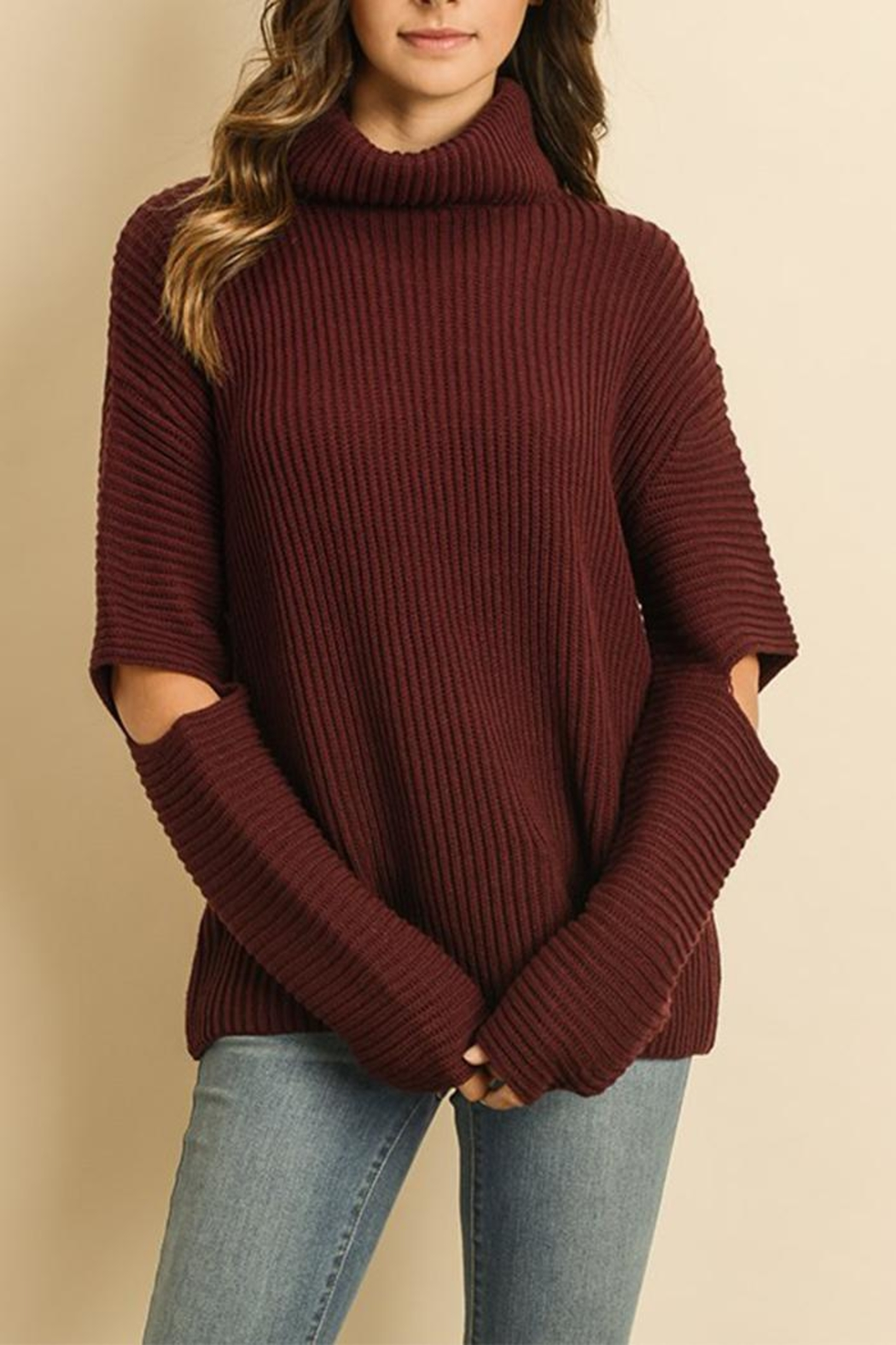 06d5086bb26bf dress forum Cold Elbow Sweater from New York by Dor L Dor — Shoptiques