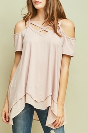 Entro Cold-Shoulder Asymmetrical Tunic - Product Mini Image
