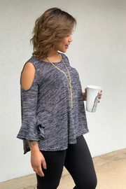 Camille and Co Cold Shoulder Bell Sleeves Top - Product Mini Image
