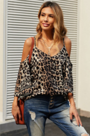 Shewin  Cold Shoulder Blouse - Product Mini Image